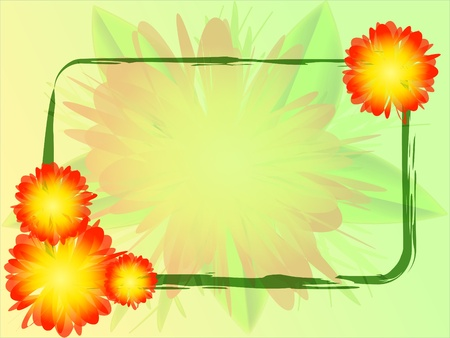 vector background with flowers Illustration