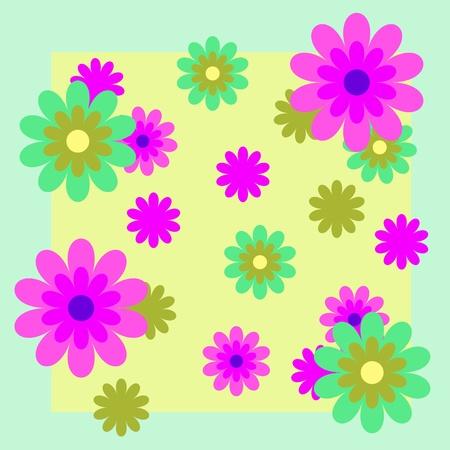 orange blossom: vector background with flowers Illustration