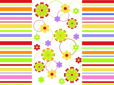 Vector background with flowers Vector