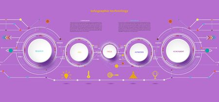 Vector illustration Hi-tech digital and engineering telecoms technology concept for infographic a business plan concept, diagram, flowchart, steps, parts, timeline, workflow layout and content chart