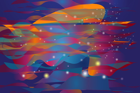 printed machine: Vector illustration colorful circle and light on blue sky of cyberspace, Abstract background of cyber and imagination to time machine in the future. Abstract space background.