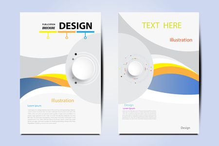 modern magazine layout template flyer cover business brochure