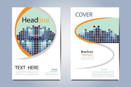 Modern magazine layout templateflyer cover business brochure modern magazine layout templateflyer cover business brochure illustration structure geometric vector designleaflet maxwellsz