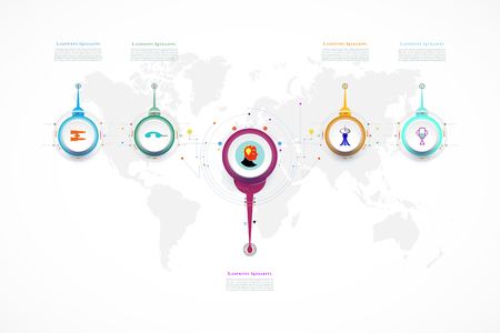 Infographic business template timeline technology element,Integrated circles. Business concept with options.For content,diagram,flowchart,steps,parts,timeline,workflow,layout,chart,Vector illustration