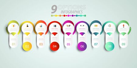Abstract infographics number template with 3D and option or step. Illustration