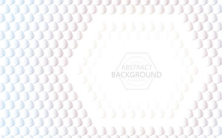 Vector white background 3d hexagon and circle abstract texture. Abstract creative modern graphic cycle, Use for cover, book design, poster, cover, flyer, card, wallpaper backgrounds or advertising.