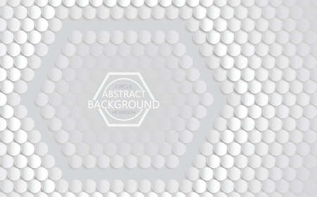 Vector gray background 3d hexagon and circle abstract texture. Abstract creative modern graphic cycle, Use for cover, book design, poster, cover, card, wallpaper backgrounds or advertising.