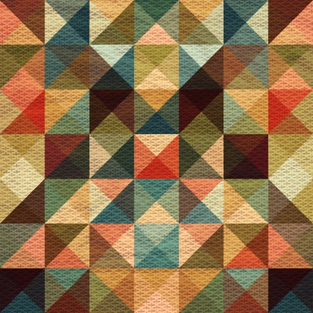 textured effect: Seamless bright multicolored textured pattern of triangles with an optical effect