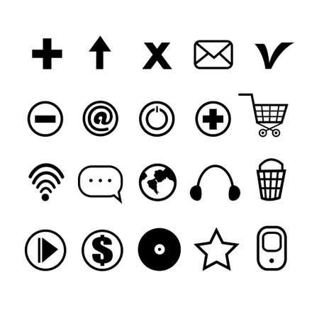 largest: The largest collection of different icons for using in web design