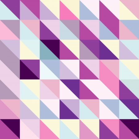 Seamless textured bright multicolored pattern of triangles with an optical effect