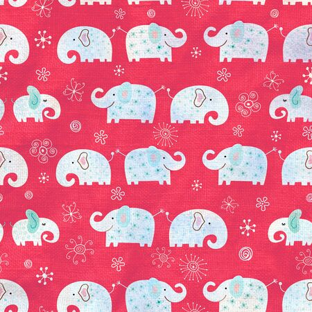 Seamless vivid pattern with elephants on a purple background Stock Photo - 19244652