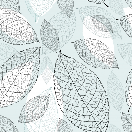 beautiful seamless graphic pattern of leaves on a blue background Stock Vector - 19376914