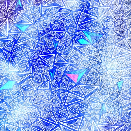 seamless graphic white triangles on a blue textural background Stock Photo - 19581017