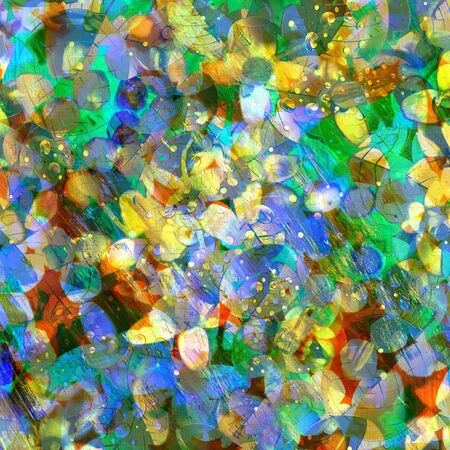 Abstract bright colorful background with different elements Stock Photo - 19982374