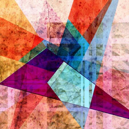 bright colorful abstract background with geometric elements Stock Photo - 19982367