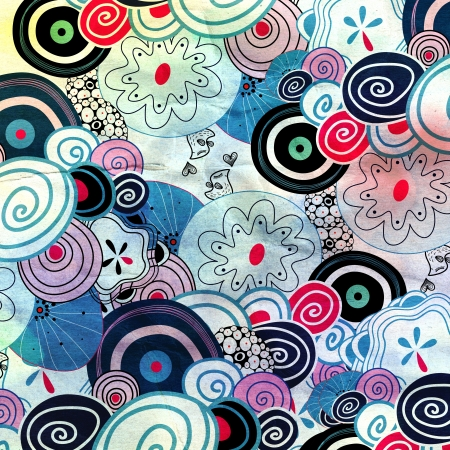 beautiful abstract design with different elements Stock Photo - 20245659