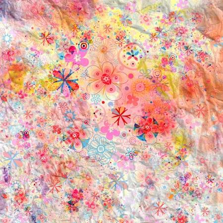 mooie zomer achtergrond met prachtige bloemen en planten Stockfoto