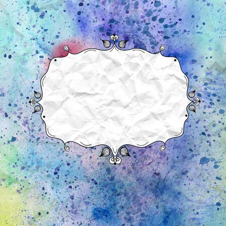 graphic frame for the text on a beautiful watercolor background photo