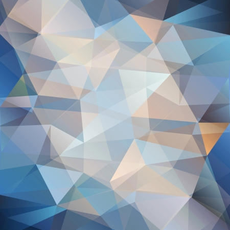 beautiful colorful abstract background with blue triangles