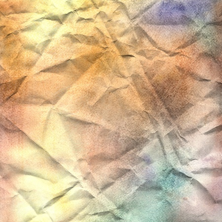 watercolor textured background with different shades of crumpled paper