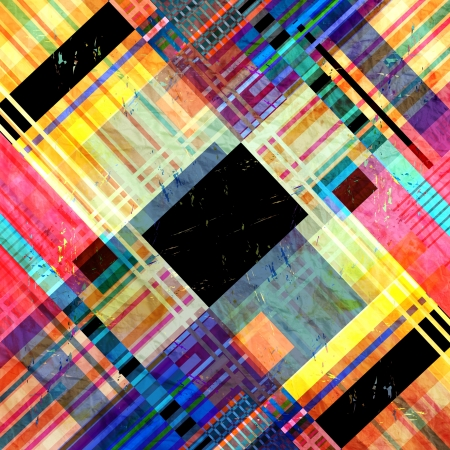 workmanship: bright colorful geometric abstract pattern of different stripes