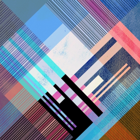 workmanship: unusual bright colorful geometric abstract pattern of different stripes