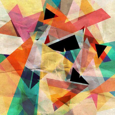 workmanship: unusual bright colorful geometric abstract background of different elements