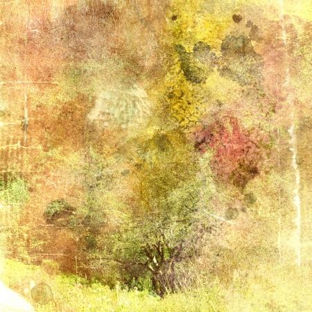 Vintage abstracte herfst achtergrond met verschillende tinten van warm
