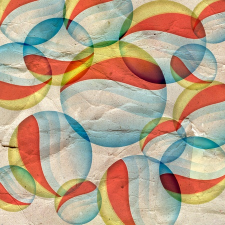 Vintage colorful abstract background with round marks