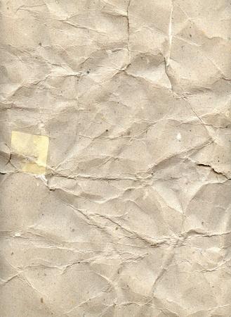 workmanship: an antique brown textured crumpled paper Stock Photo