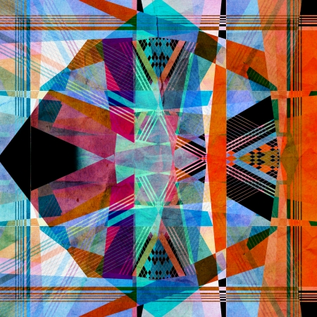 bright colorful abstract with geometric elements