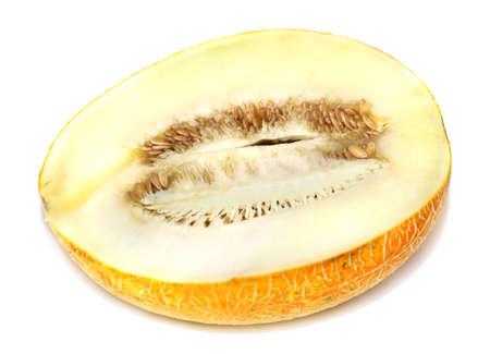 half cut: half cut melon  Stock Photo