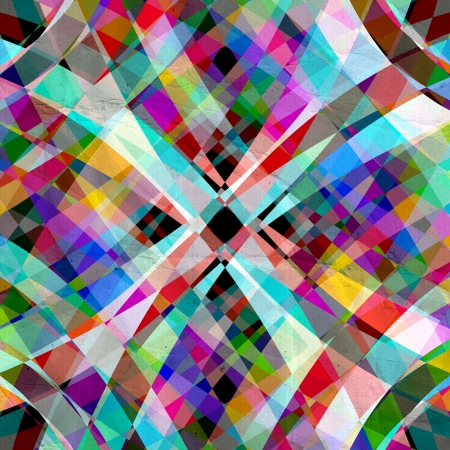 unusual multicolored pattern of geometric elements Stock Photo