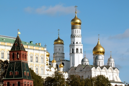 Beautiful view from the Moscow Kremlin Ivan the Great Bell Tower  View from the river photo