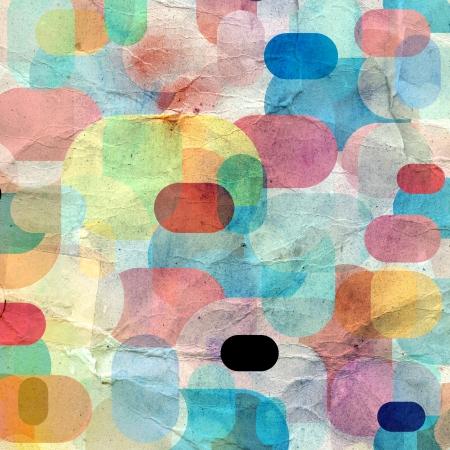 別の要素の珍しい明るいをカラフルな幾何学的な抽象的なパターン 写真素材
