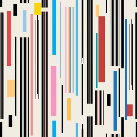 colorful graphic pattern of various stripes Illustration