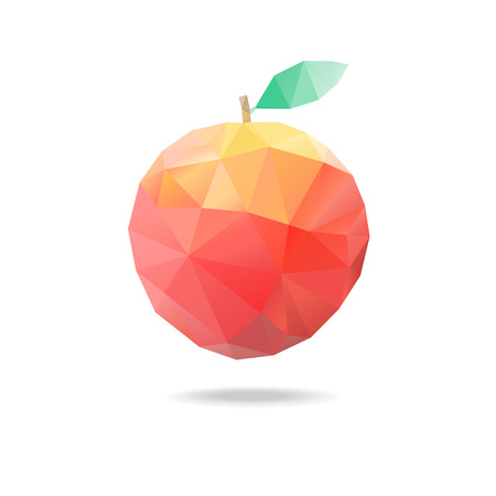 beautiful apple of triangles on a white background Vector