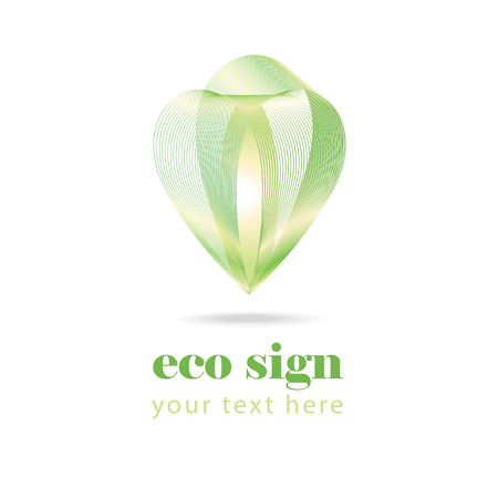 immature: abstract green eco sign on white background