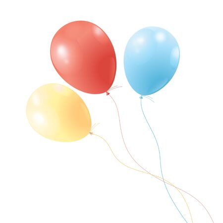 brightly colored balloons on a white background