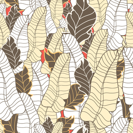 workmanship: Seamless graphic pattern of the decorative leaves