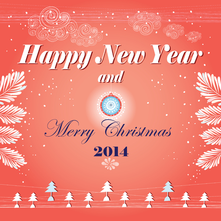 graphics card with New Year Vector