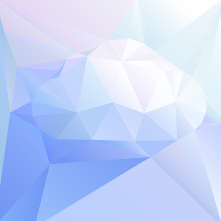 workmanship: graphic abstract cloud of triangles