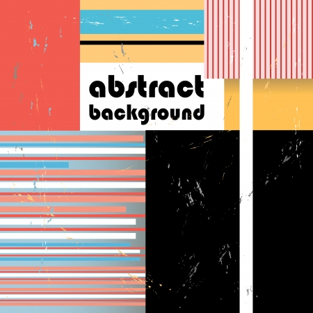 bright abstract geometric background with different elements Vector