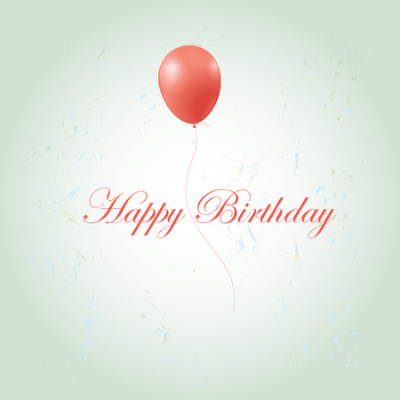 greeting card with a birthday on the old background with balloon Stock Vector - 24072249
