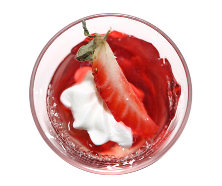 Red strawberry jelly in a glass  photo