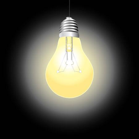 shining light: luz que brilla brillante sobre un fondo oscuro