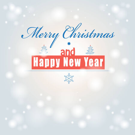 Font graphic Christmas card on light background   Vector