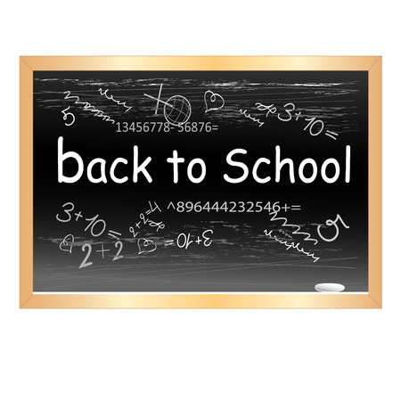 black chalkboard with the words on a white background Vector