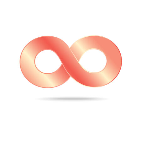 abstract infinity sign on a white background  Vector