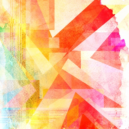 세 밝은 추상 수채화 배경 스톡 콘텐츠